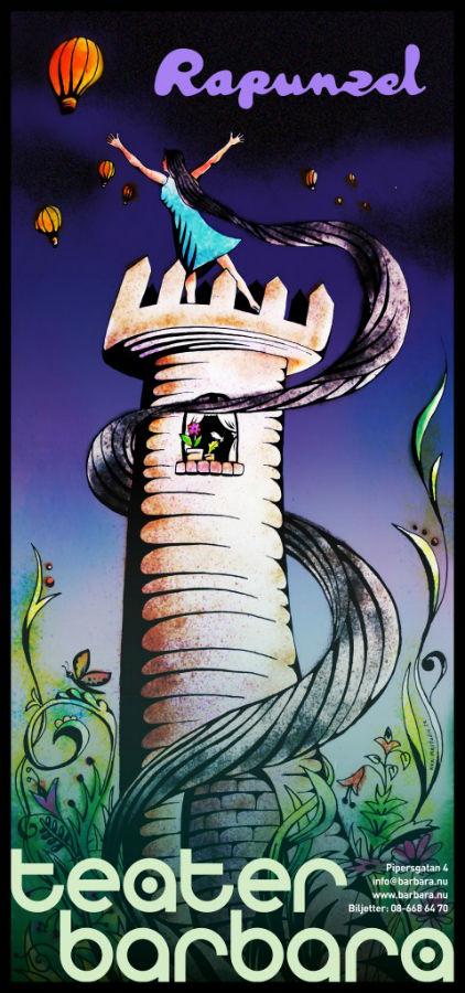 Rapunzel Affisch - Teater Barbara