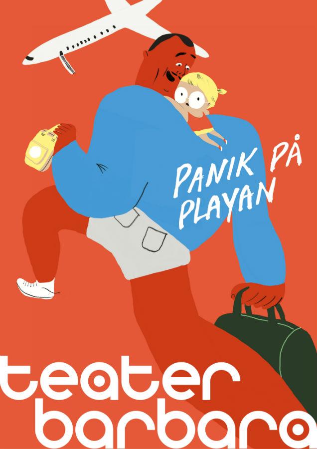 Panik pa Playan Affisch - Teater Barbara