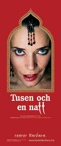 Tusen o en Natt Affisch - Teater Barbare
